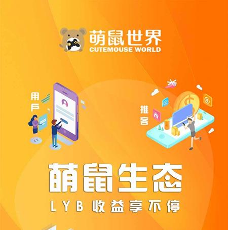 萌鼠世界:注册实名赠送12LYC的萌包1个,每日看五个视频产生LYB,团队化推广,星级达人模式