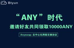 币云BTYUN交易所:邀请好友瓜分10000ANY活动,注册实名送3枚ANY,邀请好友送3枚ANY